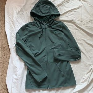 Olive green The North Face zip jacket
